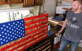 American Flag How Many Stripes Army Vet Raises His Own Version Of The American Flag Belleville