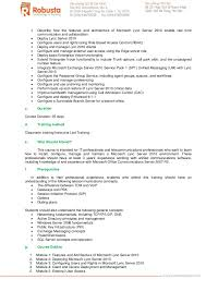 Job Experience On Resume by Robusta Training Course Catalog 2013