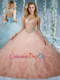 unique quinceanera dresses unique beaded bodice baby pink quinceanera dress with halter top