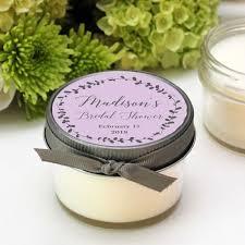 personalized candle favors bridal shower favor candles laurel label design baby shower