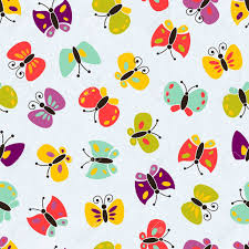 seamless colorful butterfly pattern royalty free cliparts