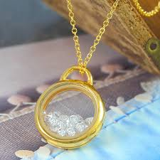crystal silver necklace images Diamond crystal silver and gold shaker locket necklace by otis jpg