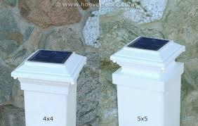 Solar Light For Fence Post - solar powered aluminum post caps for vinyl posts hoover fence