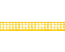checkered ribbon ribbon 10mm checkered yellow 1 patchwork hobby