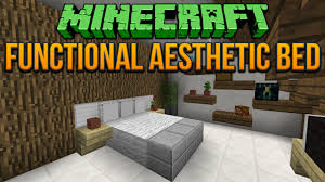 home design game videos minecraft functional aesthetic bed tutorial youtube