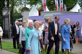 the queen and the royal family attend the chelsea flower show