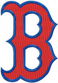 boston sox secondary logo machine embroidery design