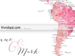 Colombia World Map by Custom Quote Shades Of Pink Watercolor Printable World Map With