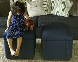 upholstered ottoman etsy