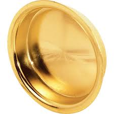 prime line closet door pull handle 2 1 8 in round brass plated