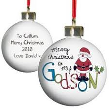 Goddaughter Christmas Ornaments Personalised Christmas Bauble Godmother Shops Personalised