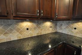 Black Granite Glass Tile Mixed Backsplash by Black Granite Countertops With Tile Backsplash Black Countertops