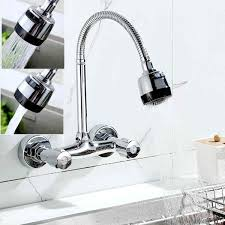 360 pipe swivel kitchen wall mount chrome pull down sink spray