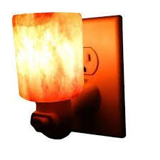 crystal plug in night light himalayan cylinder shape crystal salt night light l hand carved
