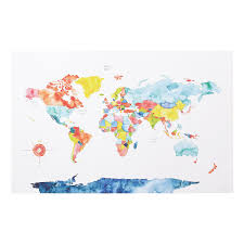 World Map Push Pin Board by Map Gifts Uncommongoods