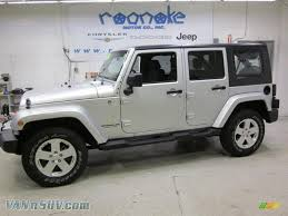 dark grey jeep 2008 jeep wrangler unlimited sahara 4x4 in bright silver metallic