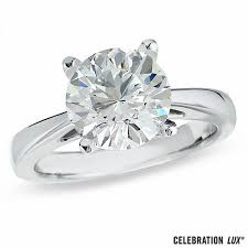 Solitaire Wedding Rings by Celebration Lux 3 Ct Diamond Solitaire Engagement Ring In 14k