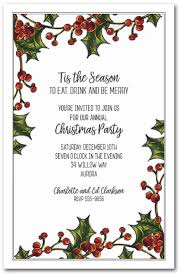 berry garland invitations