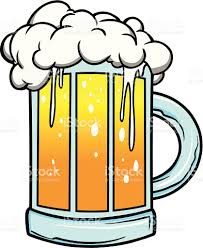 cartoon beer pint cartoon drawing of foaming mug of beer stock vector art 165791185