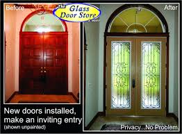 front doors replace front door sidelight glass changing front