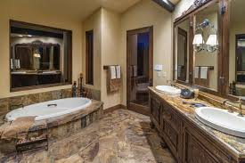 western bathroom designs water tower inspired home master bath suite rustic bathroom