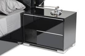 Italian Modern Furniture by Modrest Grace Italian Modern Black Bedroom Set