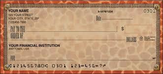 animal print checks order animal prints personal bank checks