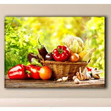 tableaux cuisine tableau panier légumes tableau cuisine pas cher deco soon