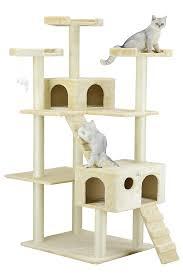 amazon com go pet club cat tree 50w x 26l x 72h beige pet