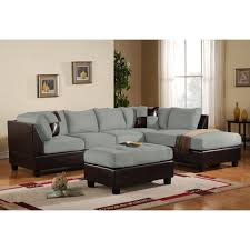Living Room With Grey Corner Sofa Furniture Milton Left Sectional Sofa In Grey With Metal Legs For