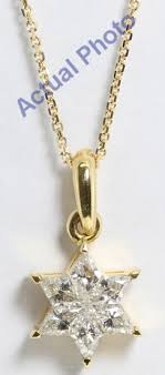 color diamond necklace images 18k yellow gold rhombus cut invisible setting diamond star of jpg