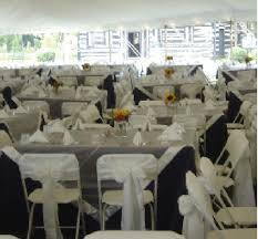 folding chair cover rentals finch rental inc