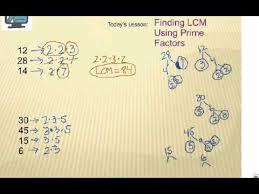 how to find least common multiple lcm using prime factors youtube