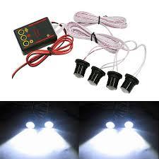 strobe lights for car headlights 4 leds car truck strobe emergency warning eagle eye light headlight