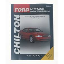 Mustang Chilton Repair Manual 1994 2004 Cj Pony Parts