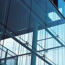 Metal Curtain Wall Point Fixed Curtain Wall Steel Glass Aden Metal