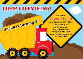 truck birthday party dump truck construction birthday party invitation digital