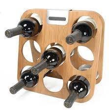counter top wine rack from metrokane holds 8 bottles and folds for
