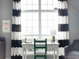 Black And White Window Curtains Diy Black White Striped Curtains