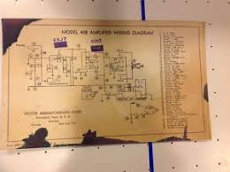 vintage victor animatograph corp model 40b amplifier wiring