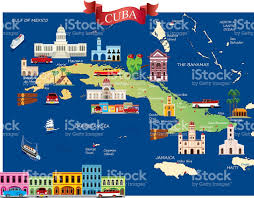 Map Of Cayman Islands Cartoon Map Of Cuba Stock Vector Art 638813560 Istock