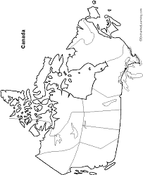 blank political map of canada outline map canada enchantedlearning