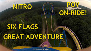 List Of Roller Coasters At Six Flags Great Adventure Six Flags Nitro Pov Hd Front Seat On Ride Roller Coaster Great