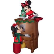 disney airblown mickey minnie piano