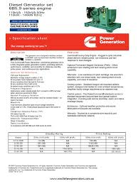 cummins c150d5 specification sheet switch components