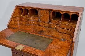 bureau secretaire antique exceptional george i burr elm fall front bureau secretaire burl