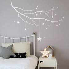 wall stickers cyprus wall stickers cyprus winter branch with stars fabric wall sticker