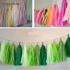 5 sheets 25 35cm wedding decoration tissue paper tassels garland