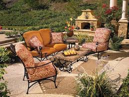 Patio Furniture Lowes by Patio Wrought Iron Patio Furniture Lowes Captivating Dark Brown