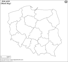blank map of poland poland outline map